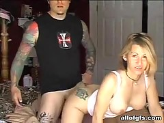 Tattooed busty gf gets crammed shitless and loves it
