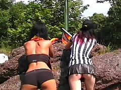 My lassie and her lesbian GF having fun