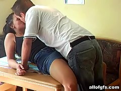 Dicking my amazing ex girlfriend on the kitchen table