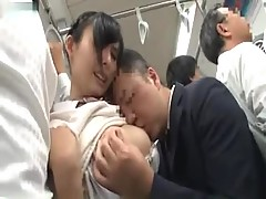 Japanese Schoolgirl nailed In Bus By An mature Pervert