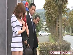 Japanese MILF nailed In Bus