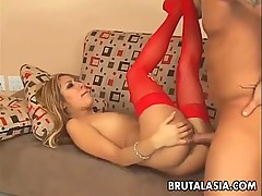 Asian babe Kat gets banged and analized