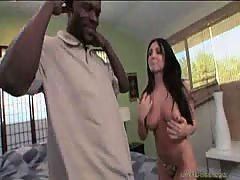 Ex-wife and mom Lorena Sanchez mounts a huge black dick