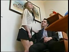 Boss and his yellow-haired secretary