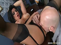 Two teachers fucking in the school in black stocking