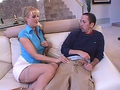 Dirty talking mom likes young dong