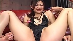 Sexy Japanese babe toyed hard uncensored
