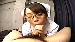 Japanese nurse sucking patient cock (uncensored)
