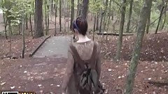 Poked and sperm shot his gf in the forest