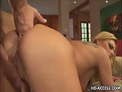Older blondy MILF takes a huge dick