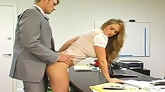 An Insatiable Boss rides His Secretary In His Office